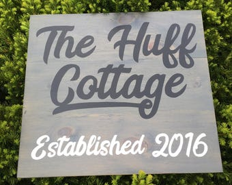 Outdoor Family Cottage Sign