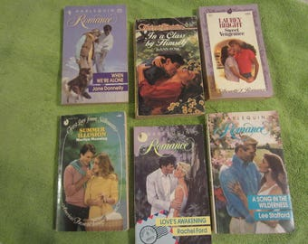 Set of 6 Harlequin Romance Novels 1983-1990  Set 14 -