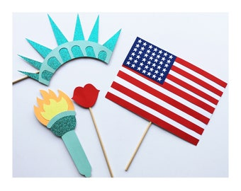 American Photo Booth Props ; Independence Day 4th of July Party ; Fourth of July Photo Booth Props ; President Photo Props ; July 4th Photo
