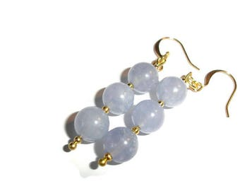 Aquamarine Earrings Hypollergenic earring Gold and blue earrings blue aquamarine blue feminine great gift idea gift for her gemstone earring