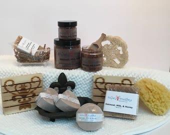 Oatmeal, Milk, & Honey Bath Collection