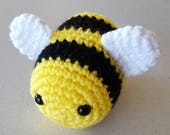 READY TO SHIP: Crocheted Bee Amigurumi
