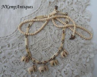 Old bone necklace