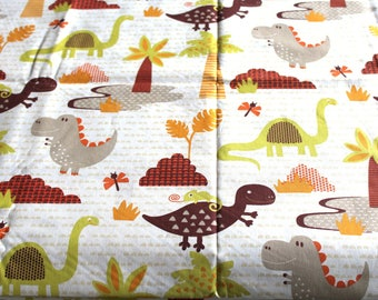 Coupon fabric boy 50 x 70 cm dinosaurs