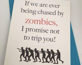 Zombie love card  Etsy
