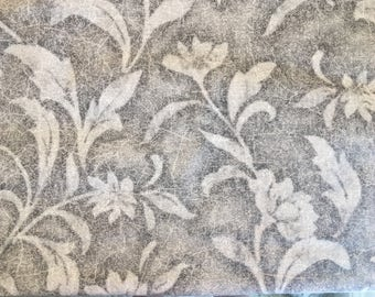 Gray fabric by the yard - grey fabric - gray floral fabric - gray flower fabric