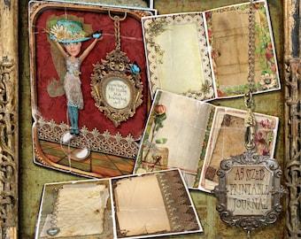 Printable Journal Kit , Journal Pages,, Junk Journal, Digital Journal, printable journal, Altered art kit, Vintage Journal