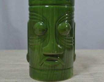 Dark Green Tiki Mug Westwood 1303 made in Japan