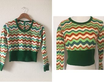 vintage 60's JAPANESE CROP TOP - small