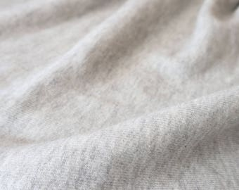 "French Terry-50""- Light Grey Heather"
