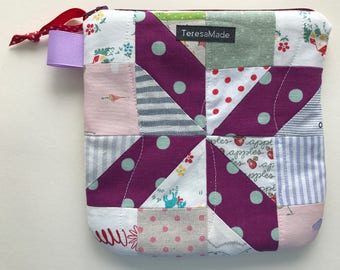 Small Patchwork Zip Pouch