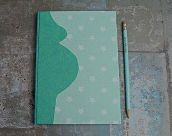 baby memory book, mom to be, Pregnancy diary, maternity gift for pregnant substance-related pregnancy journal, Pregnant, green, turquoise