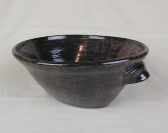 Espresso Brown Oval Bowl
