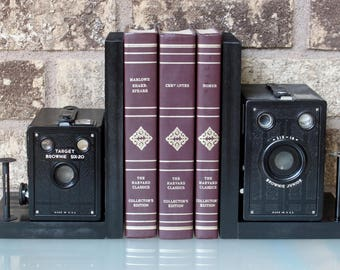 Kodak Brownie Target Six-16 - Six-20 - Vintage Camera Bookends