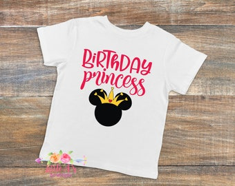 Birthday Princess, Minnie birthday shirt, Disney shirt, Disney vacation, Birthday, Girls Birthday shirt, Princess, Minnie mouse,