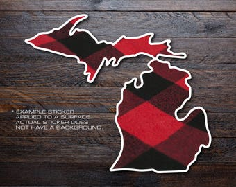Michigan Mitten Vinyl Decal Sticker A24