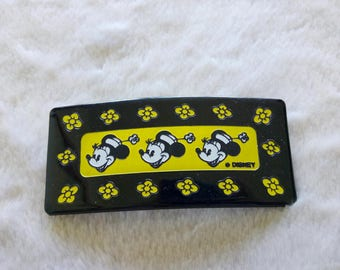 Disney Minnie Mouse hair barrette  , vintage Disney France hair clip 1990s