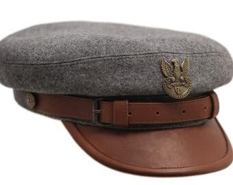 Polish Legions (Jozef Pilsudski) historical replica. 'Maciejowka' style cap. Cap with lining. All sizes - grey / brown