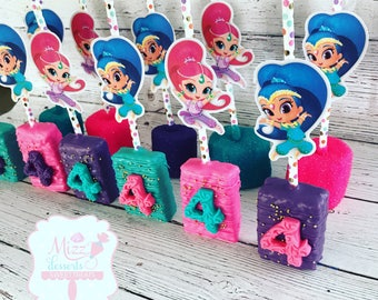Shimmer and Shine Rice Krispie Treats