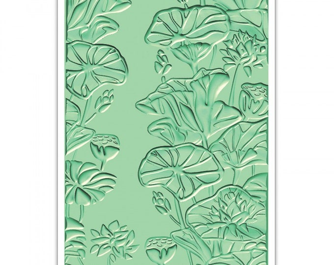 New! Sizzix 3-D Textured Impressions Embossing Folder - Lily Pond 661950