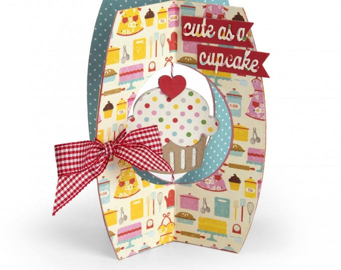 New! Sizzix Thinlits Die Set 10PK - Card, Cupcake by Lori Whitlock 662348 (X-Cards)
