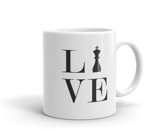 Mug - Live Love Chess Black King Mug