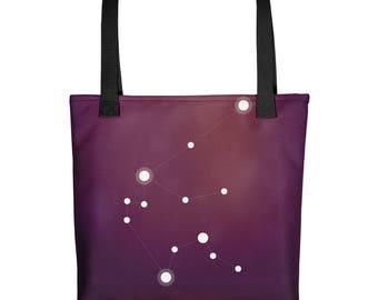 Tote bag - Zodiac Aquarius Constellation Tote Bag