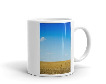 Mug - Red Silo Original Art - Wheat Tracks