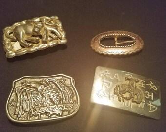 Vintage belt buckles set of 4