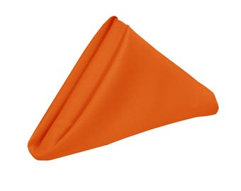 Orange Napkin for Weddings Pack of 10   Wholesale Polyester Napkins
