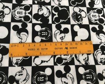 Pretty Mickey black /white lattice soft Cotton lycra 48*170 cm cotton knit 1/2 yard