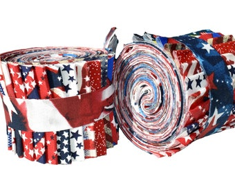 America, patriotic, quilt of Valor, red white and blue  24 strip jelly roll, 2 1/2 inch strip fabric quilt