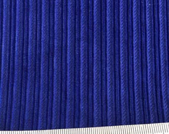 Vintage royal blue corduroy fabric