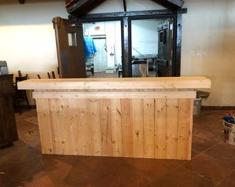 The Buffet - 8' unfinished pallet style reception desk, sales counter or bar