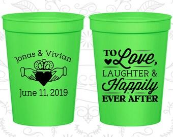 Neon Green Stadium Cups, Neon Green Cups, Neon Green Party Cups, Neon Green Wedding Cups (446)