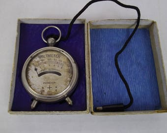 Vintage Volt meter , boxed 1940's , boxed , test equipment, steampunk