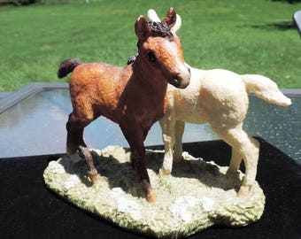 Rare Vintage Horses Grazing by United Design Classic Critters