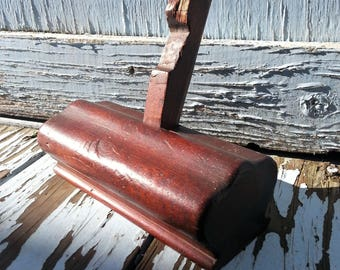 Antique Wooden Plane w/ Side Mounted Blade - Early Vintage Wood Working Tool