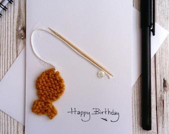 fishing birthday card; card for dad; fishing gift; fishing; fishing card; card for him