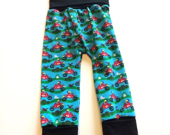Dirtbike Maxaloones  (no bum circle)- 1 to 3 years,  ~ Ready to Ship, cloth diaper pants, baby, toddler clothes