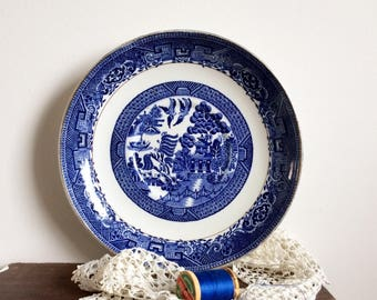 Blue willow plate blue and white china plate