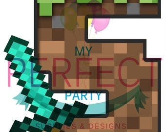 5 Minecraft party table centerpieces