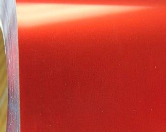 "Red Matte Metallic Foil 20"" Heat Transfer Vinyl Film By The Yard"
