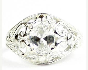 On Sale, 20% Off, Cubic Zirconia, Sterling Silver Ladies Ring, SR111