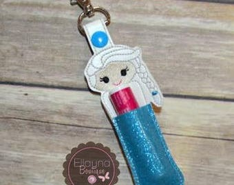 Lip Balm, Chapstick, Flash Drive, USB Drive Holder - Elsa inspired, frozen