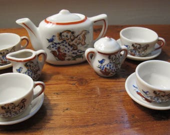 13 Pc Japan Vintage Child's Tea Set