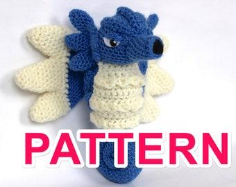 Seadra pokémon crochet pattern