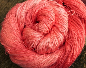 MULBERRY SILK Laceweight Lace super-soft Pure Silk, 100 gms 800 mts Mollycoddle Yarns, hand dyed shawl summer
