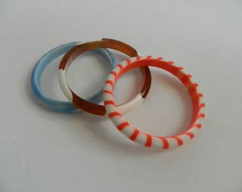 Set of 3 Retro Colourful Bangles