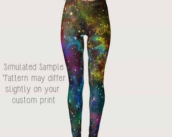 Galaxy Outer Space Leggings, Yoga Pants, Milky Way, Planets, Cosmic, Cosmos, Nebula, Out of this World, Hologram -Galaxy 2